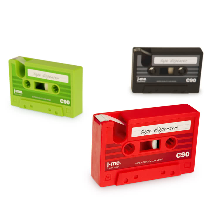 j-me - cassette tape dispenser - group, colours