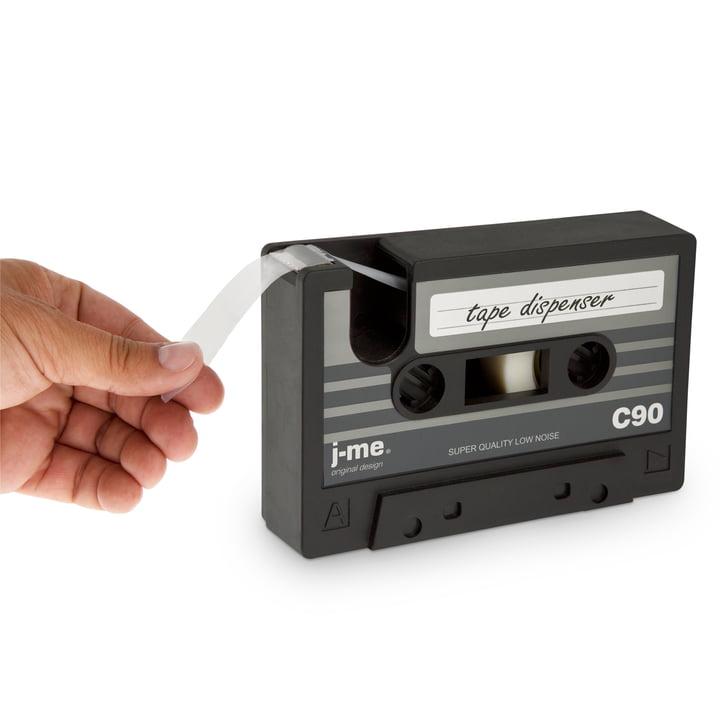 j-me - cassette tape dispenser, green, black - in use
