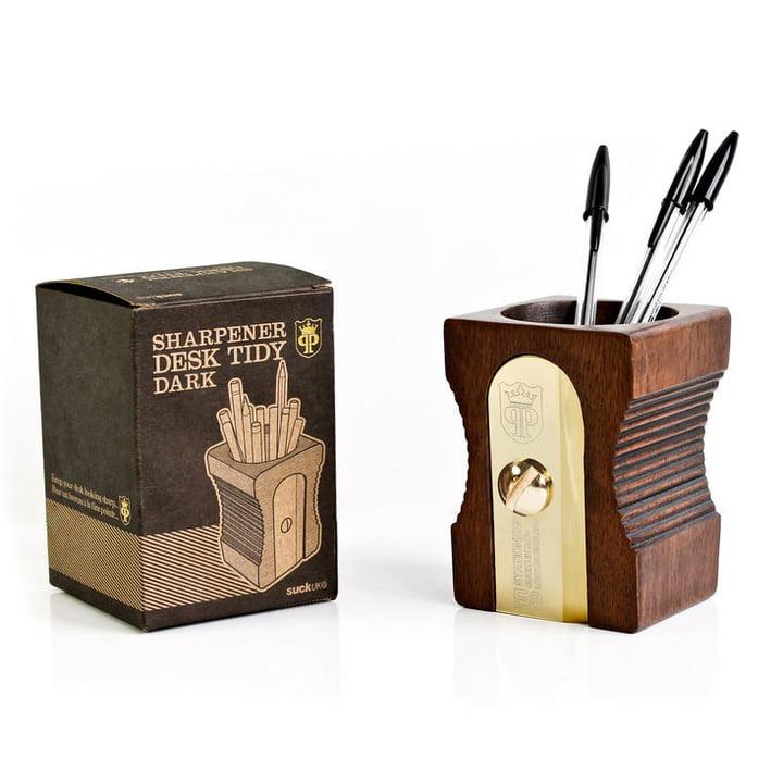 Suck UK - Sharpener Desk Tidy, single, dark - with package