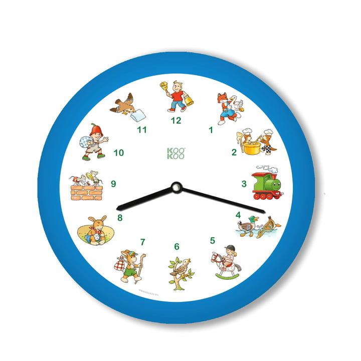 KooKoo - Children's Songs Wall Clock, blue