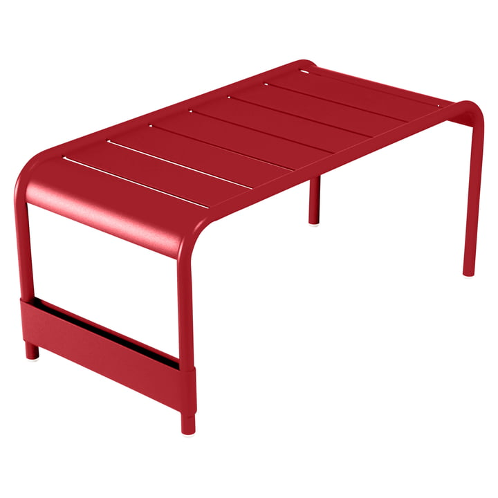 Fermob - Luxembourg Large low table / Garden bench, poppy