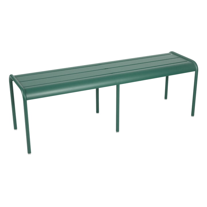 Luxembourg 3 / 4 person bench without backrest by Fermob in cedar green