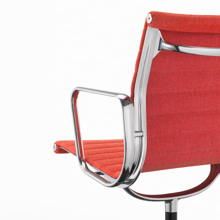 Vitra - EA 104 Office Chair, Hopsak, poppy-red / ivory