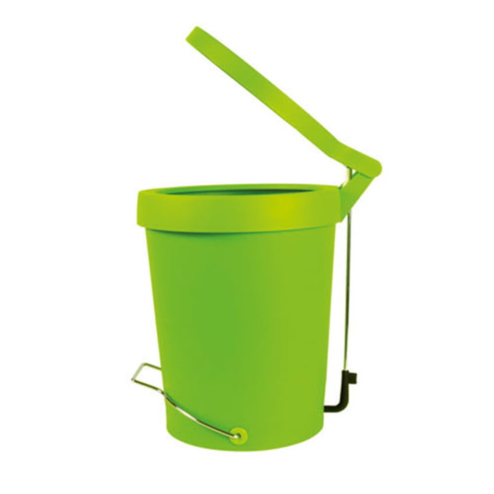 Authentics - Tip pedal bin 7 litres, green, Ø 22 cm