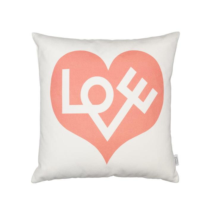 Vitra - Graphic Print Pillows Love Heart grey pink 40 x 40
