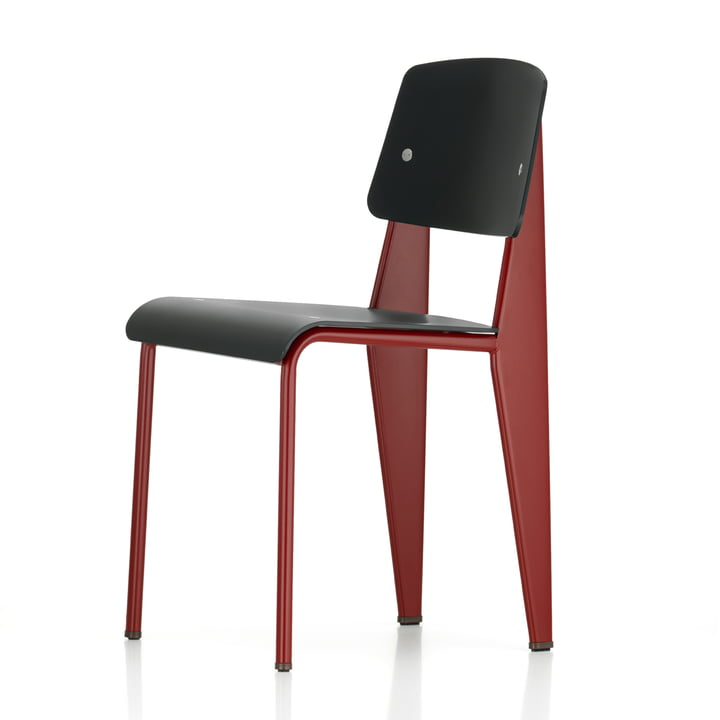 Vitra - Prouvé Standard SP Chair, japanese red / black
