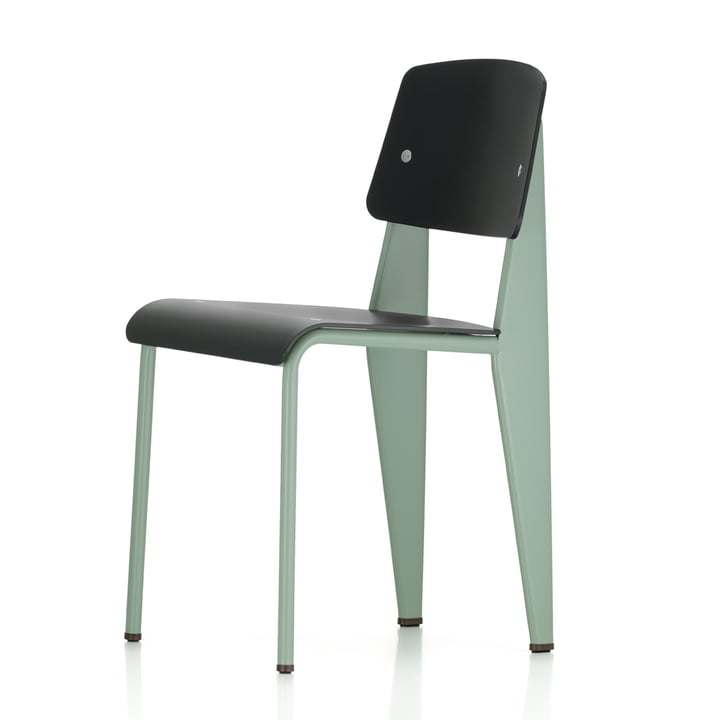 Vitra - Prouvé Standard SP Chair, mint / black