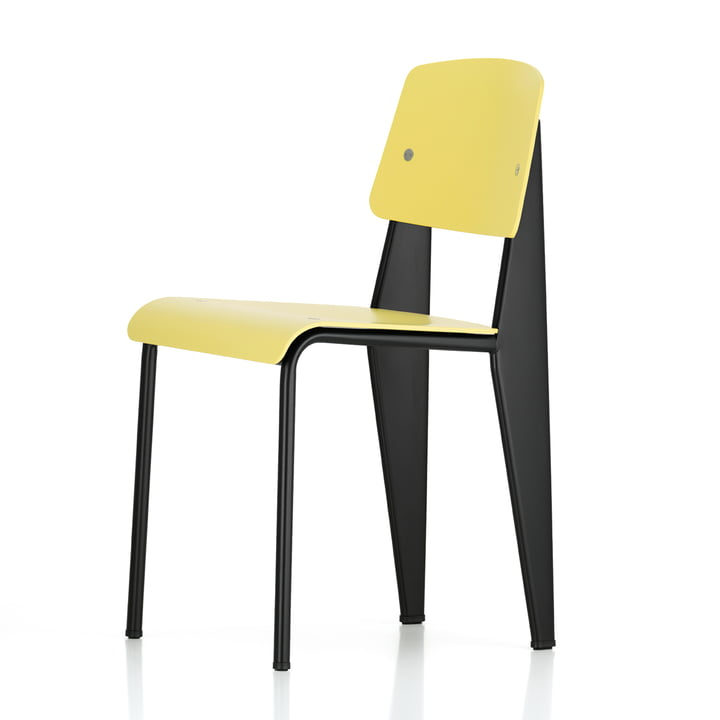 Vitra - Prouvé Standard SP Chair, black / citron