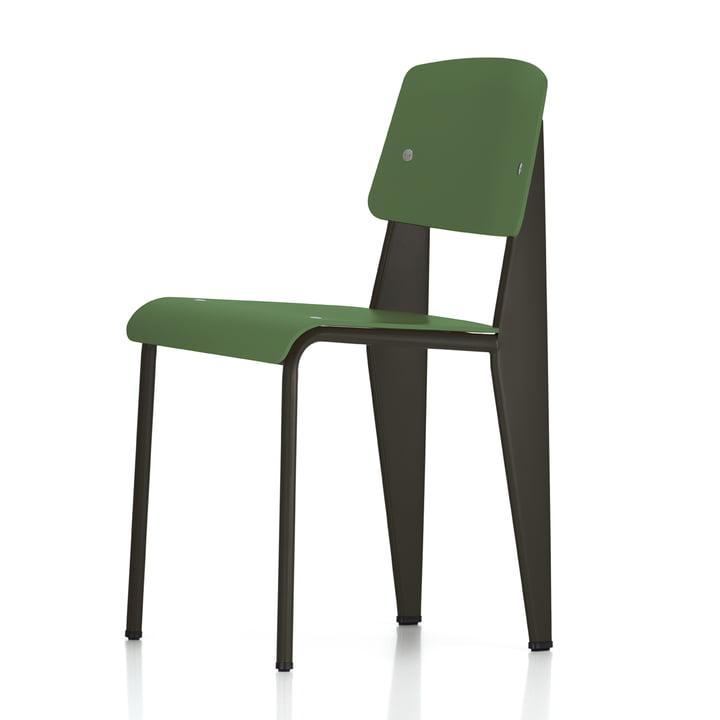 Vitra - Prouvé Standard SP Chair, black / olive