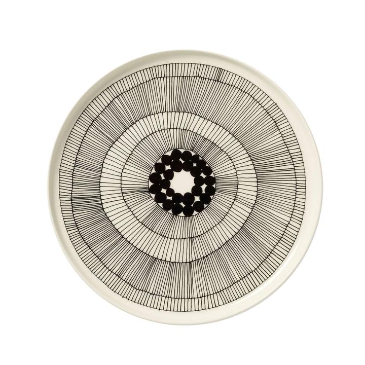 Marimekko - Siirtolapuutarha Plate, white / black