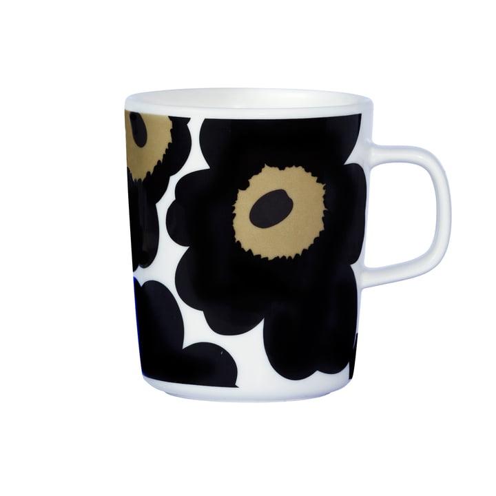 Marimekko - Pieni Unikko Cup with handle, white / black