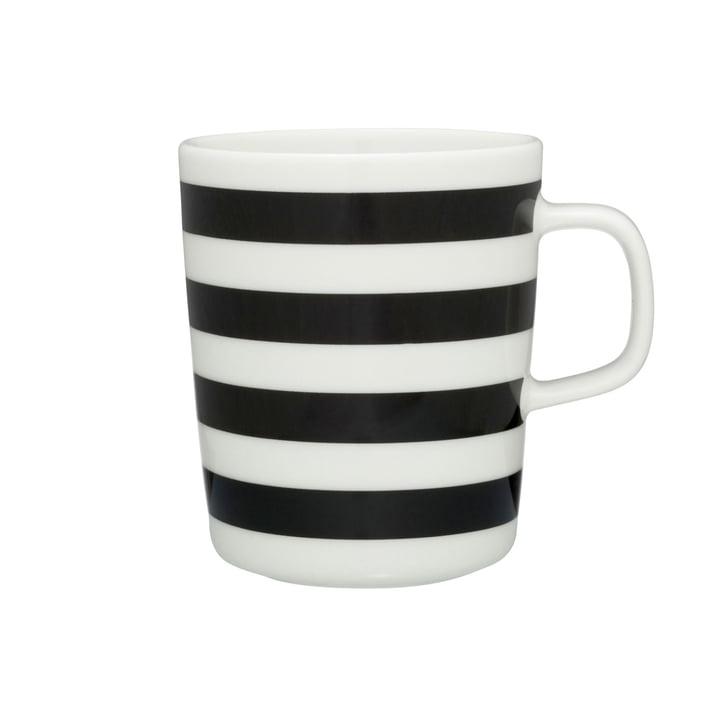 Marimekko - Tasaraita Cup with handle, yellow / black