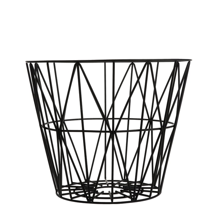 ferm Living - Wire Basket Small, black