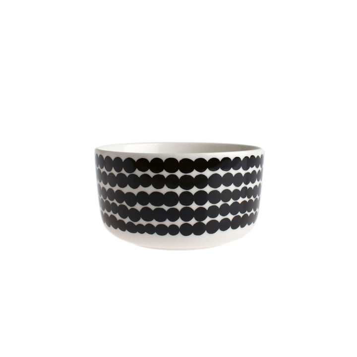 Oiva Räsymatto bowl 500 ml from Marimekko in white / black