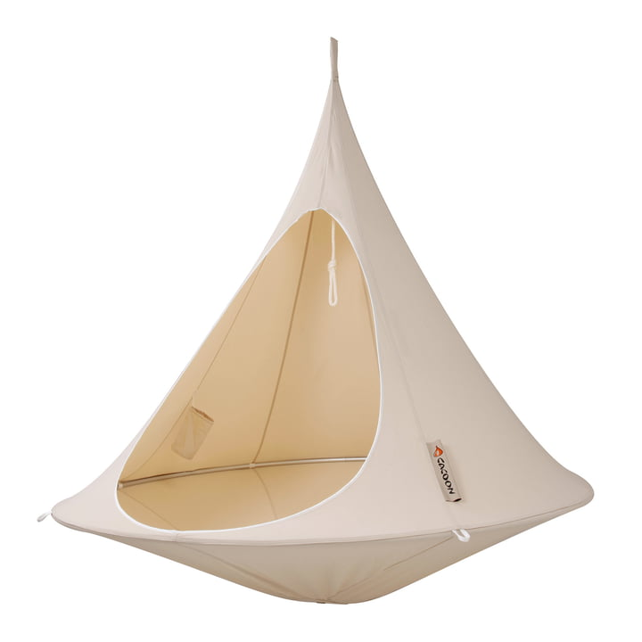Double Hanging chair, natural white from Cacoon