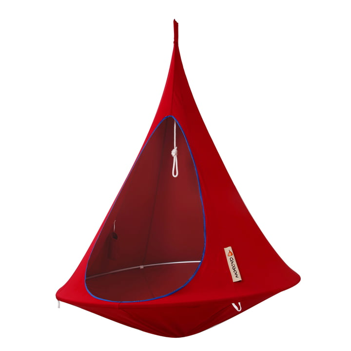 Cacoon - Single Hanging Chair, chili red