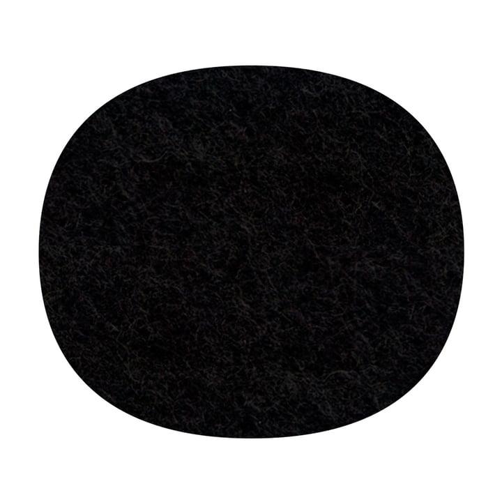 Hey Sign - felt-cushion Eames Plastic Side Chair, black, 5mm