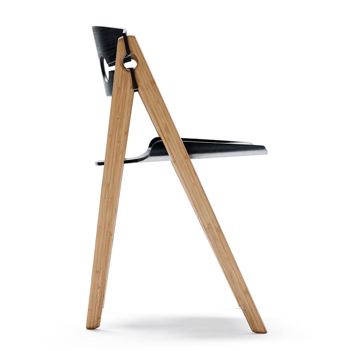 We do wood - Dining Chair no. 1 black, Lateral view