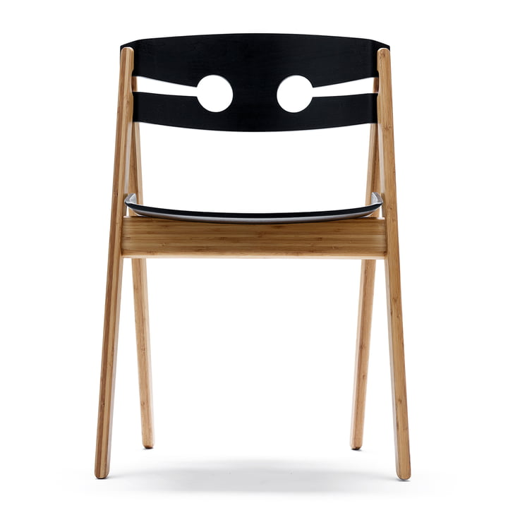 We do wood - Dining Chair no. 1 black, front view