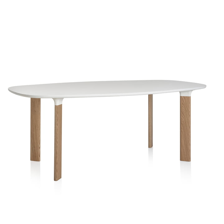 Fritz Hansen - Analog Tisch white / oak