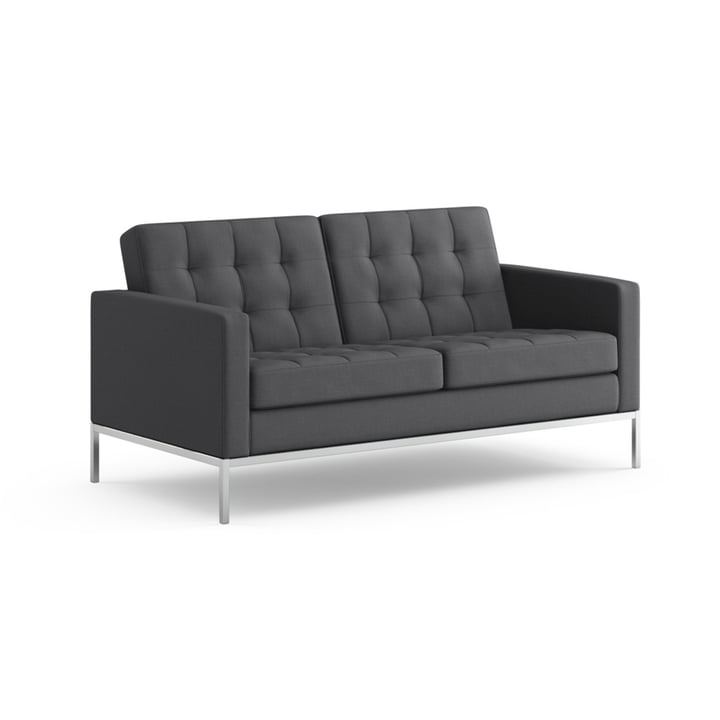 Knoll - Florence Sofa 2-seats - fabric Hopsack, charcoal