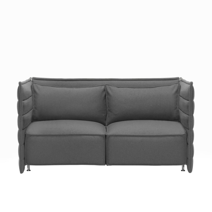 Vitra - Alcove Plume Sofa, 2 seats, without pillow, dark-grey