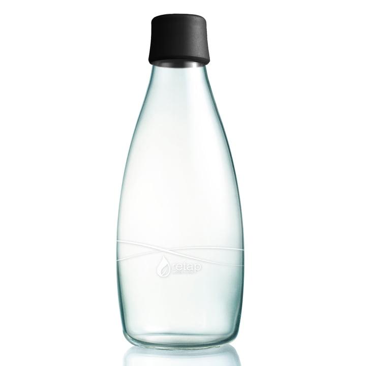 Retap - bottle with lid, 0,8 L, black