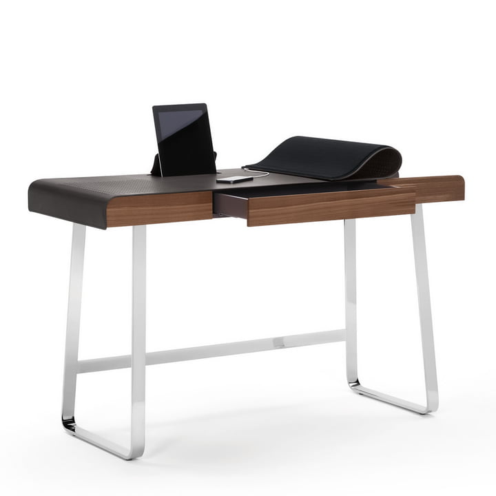 ClassiCon - Pegasus Home Desk, chromium-plated, walnut