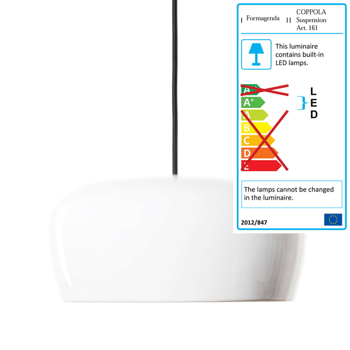 Formagenda - Coppola Pendant Lamp, white