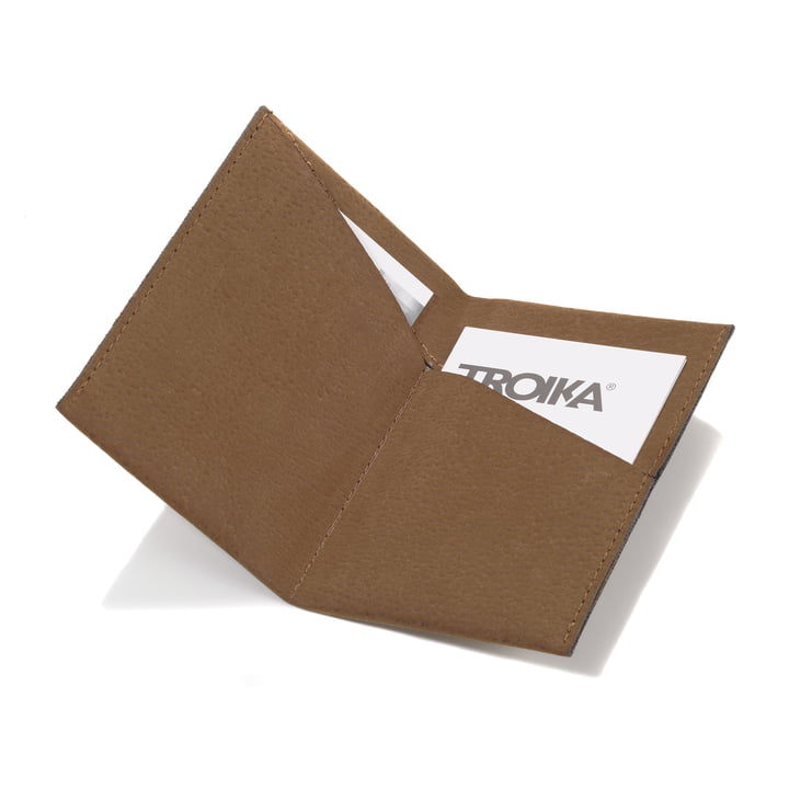 Troika - Kniff 2 Business Card Case - brown - open