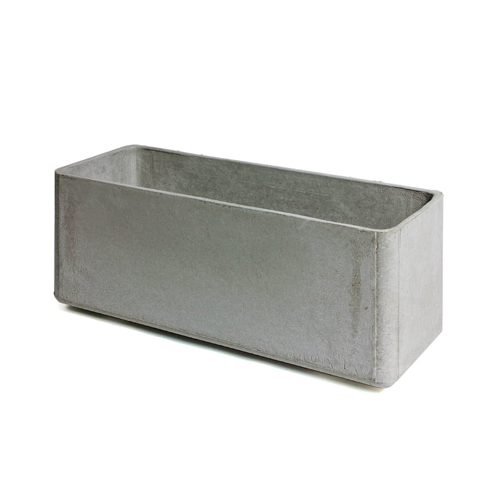 Eternit - Delta planter 80 x 30 x 35 cm, grey