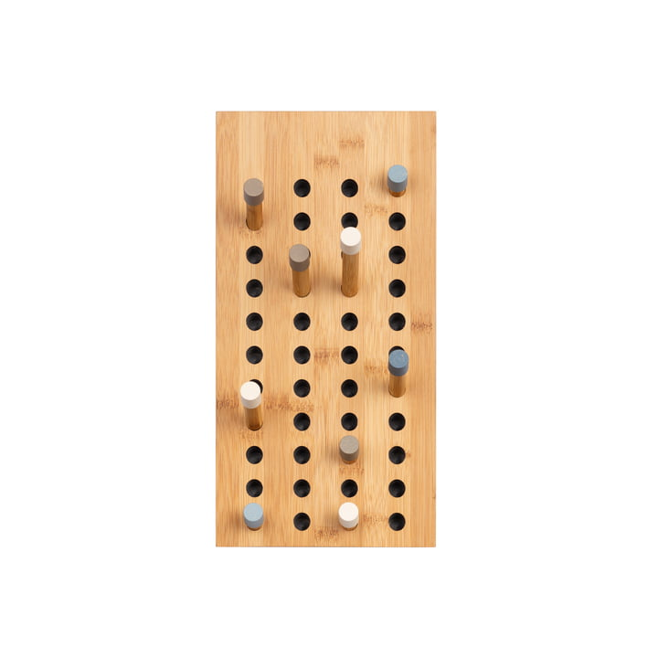 We do wood - Scoreboard coat rack small, natural bamboo