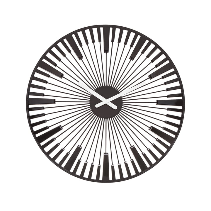 Koziol - Piano Wall Clock, black