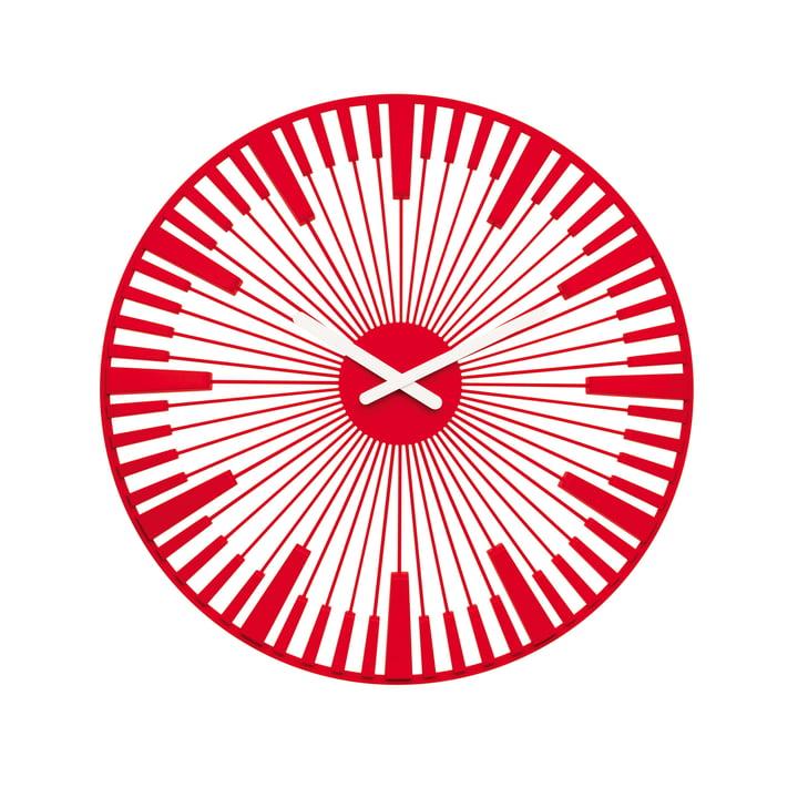 Koziol - Piano Wall Clock, red