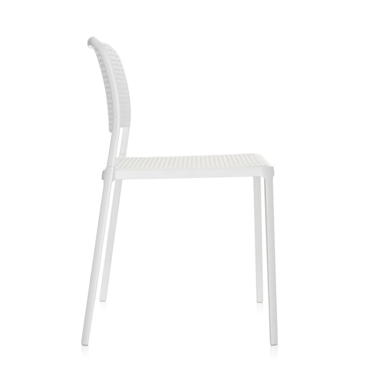 Kartell - Audrey Chair, without arm-rest, white / white