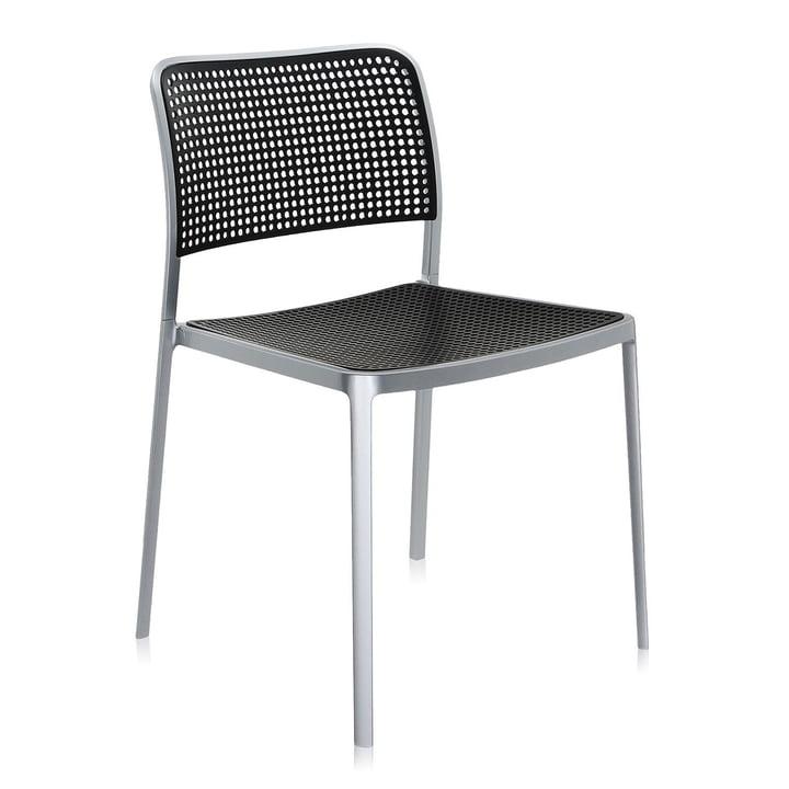 Kartell - Audrey Chair, without arm-rest, aluminium / black