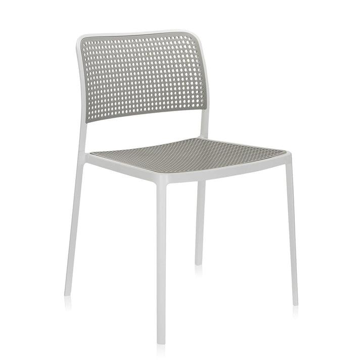 Kartell - Audrey Chair, without arm-rest, aluminium / light-grey