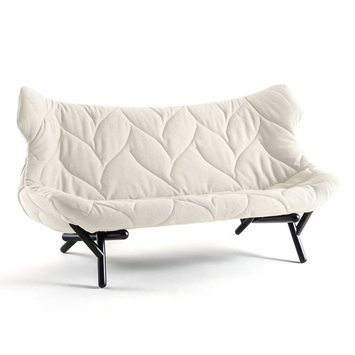 Kartell - Foliage Sofa, white, black legs