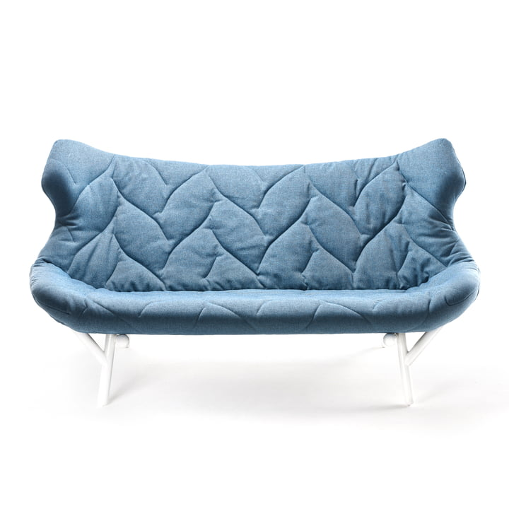 Kartell - Foliage Sofa, blue, white legs