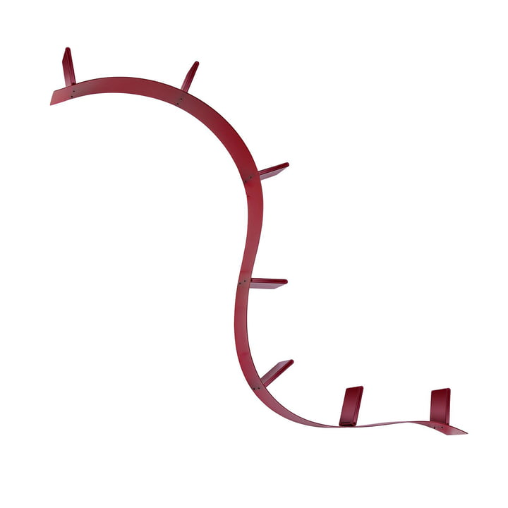 Bookworm short shelf (C8 / wine red) from Kartell