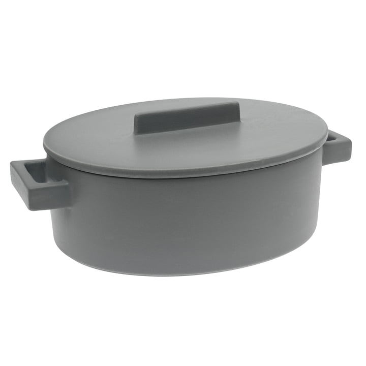 Sambonet - Terra.Cotto Oval Saucepot 16 cm, pepper