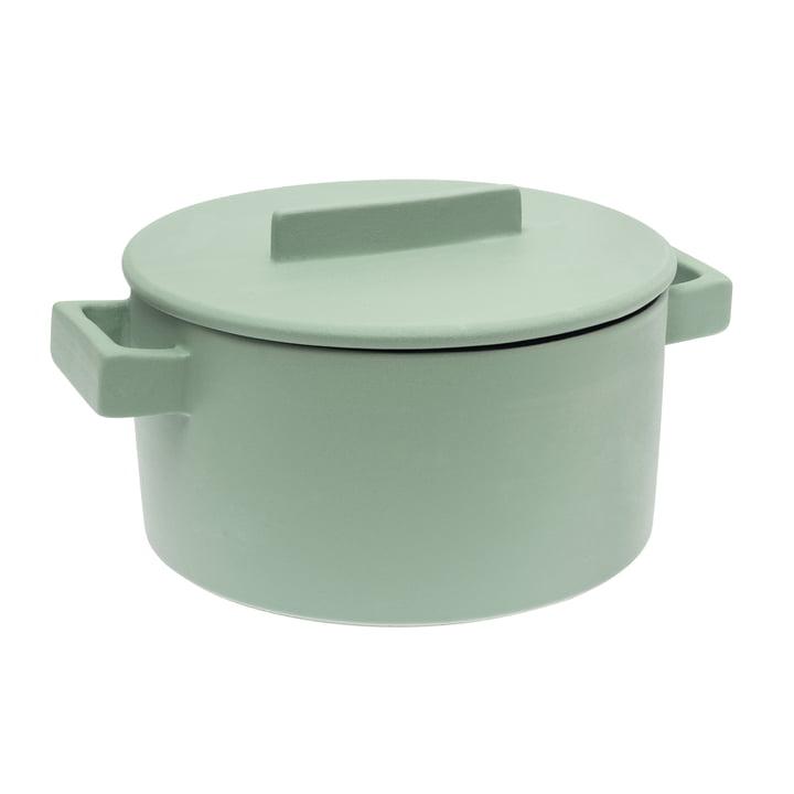 Sambonet - Terra.Cotto Cylindrical Saucepot 24 cm, sage