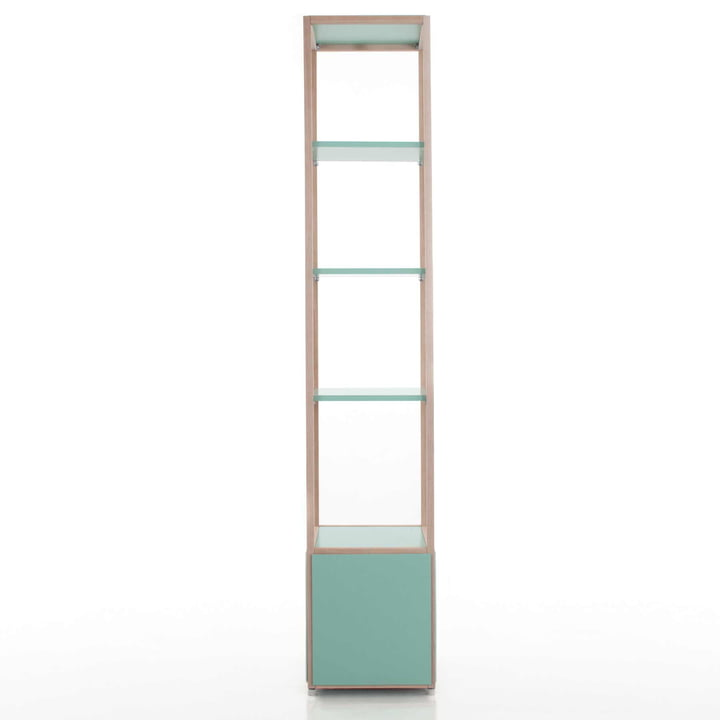 Flötotto - ADD Shelving tower, high, green - example