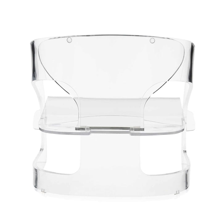Kartell - Joe Colombo Armchair, transparent - backside