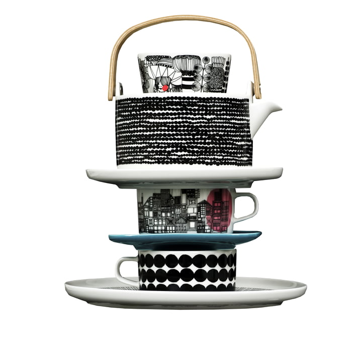 Catalogue image - Marimekko - Oiva Räsymatto Plate, Tea Pot