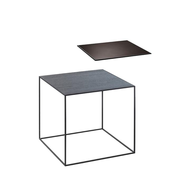by Lassen - Twin Side Table, black / copper