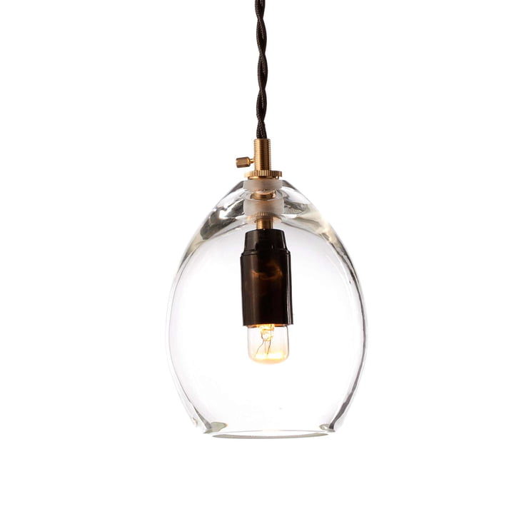 The Unika Pendant Lamp by Northern in small, transparent