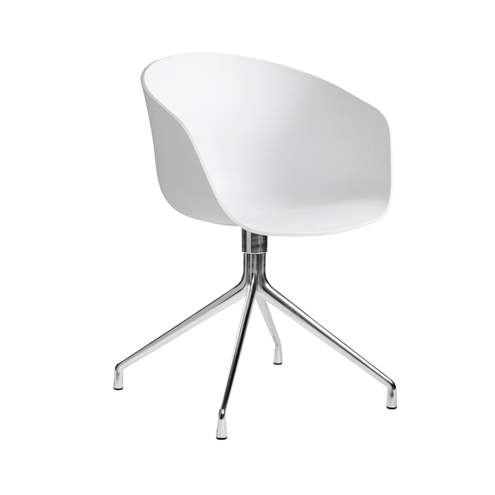 About A Chair AAC 20 by Hay in polished aluminum / white
