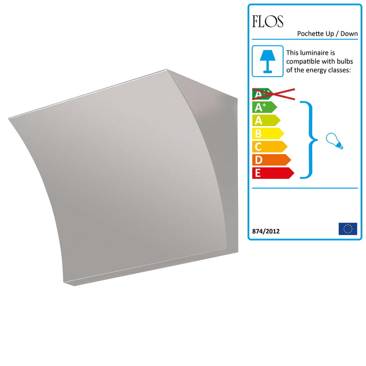 Flos - Pochette Wall Lamp, grey