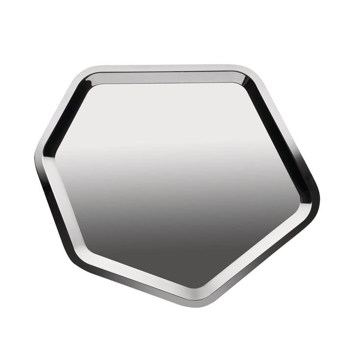 Alessi - Territoire, tray hexagonal, stainless steel, shiny